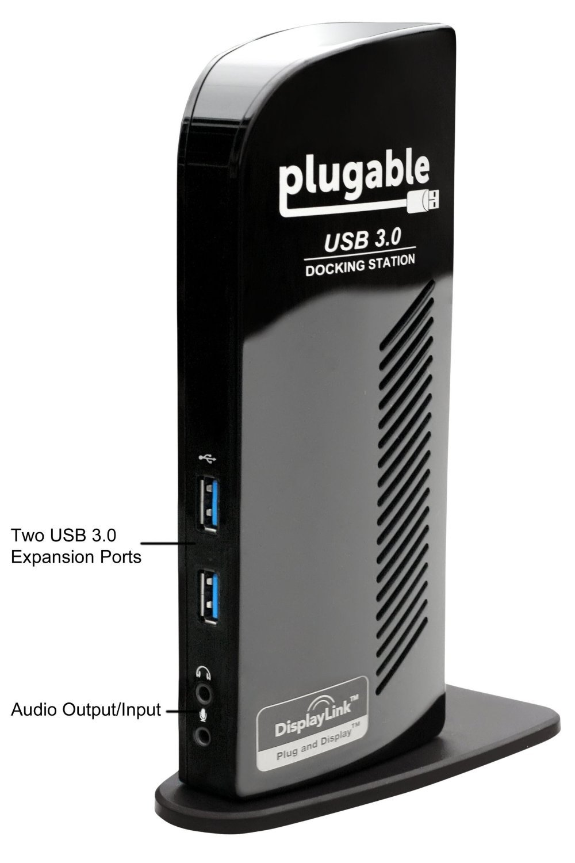 Plugable UD-3900 USB 3.0 Universal Docking Station front